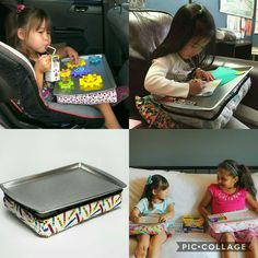Heading out of town for the holidays? There's still time to order a Kid's Travel Lap Desk for that long trip to Grandma's! #travel #kids #toys #desk #lap #christmas #gift #ideas #handmade #kidessence