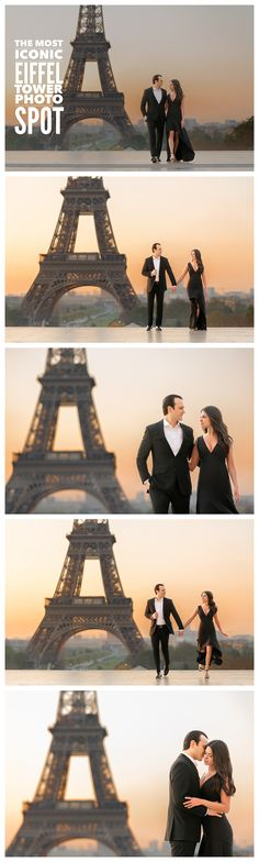 Paris is blessed with more photo spots than you and your professional Paris photographer likely have time or energy for. With that said, there are a few spots—notably if the Eiffel Tower is on your priority list (and it should be!) that you just must consider for your Paris engagement photos (#ParisEngagement). The most popular vantage point of the Eiffel Tower is at Trocadéro. Just make sure to show up at sunrise (or even a few minutes before). Check out our site for more helpful tips!