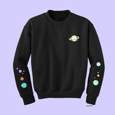 koko-solar system 2 embroidery tumblr jumper
