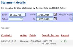 AdClickXpress (Ad Click Xpress) is the best ONLINE OPPORTUNITY for you. I WORK FROM HOME less than 10 minutes a day and I manage to cover my LOW SALARY INCOME. I am getting paid daily at ACX and here is proof of my latest withdrawal. This is not a scam and I love making money online with Ad Click Xpress.
