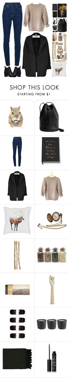 """Wintery"" by canarmonial ❤ liked on Polyvore featuring BAGGU, Wood Wood, Kate Spade, Burberry, Crate and Barrel, Jayson Home, Forever 21, Surya, NARS Cosmetics and Miss KG"
