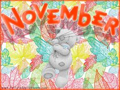 November For Averie Cute Images, Cute Pictures, Calendar Pictures, Teddy Bear Pictures, Blue Nose Friends, Birthday Month, Birthday Club, Birth Flowers, Love Bear