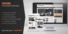 Download and review of Unicorn - Clean and Responsive Magazine Theme, one of the best Themeforest Magazine & Blogs themes {Download & review at|Review and download at} {|-> }http://best-wordpress-theme.net/unicorn-clean-responsive-magazine-download-review/