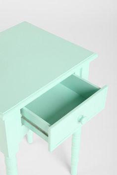 Spool Side Table - mint