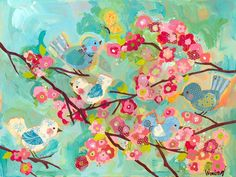 Cherry Blossom Birdies - Jack and Jill Boutique