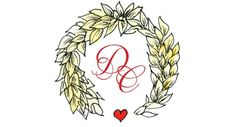 Deirdre provided me with a lovely mood board full of autumn colours, Chanel brooches and bundles of barley. We created this logo which was p. Wedding Logos, Wedding Signage, Chanel Brooch, Autumn Colours, Card Envelopes, Monograms, Thank You Cards, Brooches, Initials