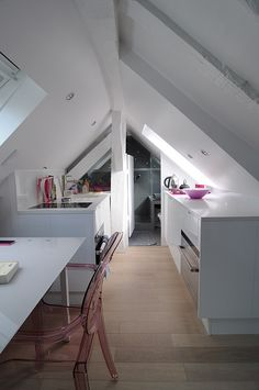 Tiny Apartment In Paris This 150 square foot student's apartment was built in the attic.