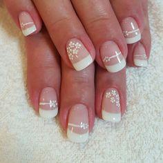 French Manicure Nail Designs, Manicure And Pedicure, Nail Art Designs, Gel Nails, Daily Nail, Beautiful Lips, Lip Art, Simple Nails, Nail Arts