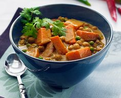 Sweet Potato and #Chickpea Curry Recipe. Traditional Asian style