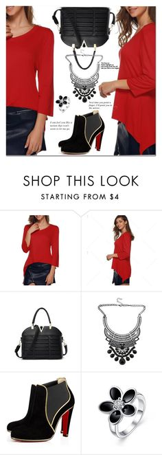 """Red and black"" by jecakns ❤ liked on Polyvore"
