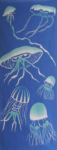 JELLYFISH / Summer / Season | Japanese Gifts TENUGUI online shop - wuhaonyc
