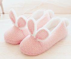 Cute pink rabbit home warm slippers - discount code : doriimer Bunny Slippers, Cute Slippers, Pink Slippers, Looks Kawaii, Pajama Party, Everything Pink, Pink Princess, Kawaii Clothes, Kawaii Fashion
