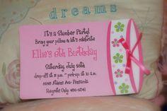 Sleepover birthday party invitation or by palmbeachpolkadots, $1.75