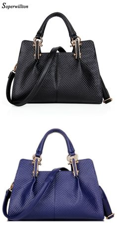 6c11b540fc Soperwillton Brand New trend PU Leather Women Handbag Luxury Solid Black 2016  Fashion Female Totes Crossbody Brand Bag Simple Bolsas Feminina Dropshipping