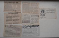 Postcard ポストカード7枚楽譜いろいろフランスアンティーク インテリア 雑貨 家具 Antique ¥200yen 〆07月01日
