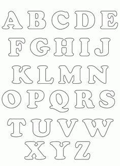 Английский алфавит. Трафареты букв.