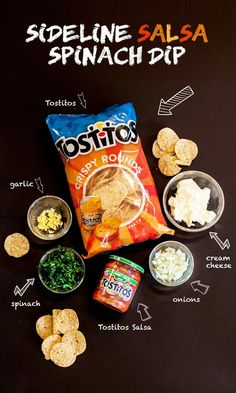 Here's a fun and easy recipe for the PepsiCo Game Day Grub Match – Sideline Salsa Spinach Dip using Tostitos and Tostitos salsa. Create your own recipe and share it using #GameDayGrubMatchEntry for a chance to win great prizes! Via @efreedman