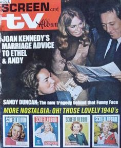 Well this is new to me ! Hopefully I'll find a bigger pic soon :) Joan Bennett, Andy Williams, Ethel Kennedy, Three Kids, Marriage Advice, Nostalgia, Scrapbook, Face, Wedding Advice