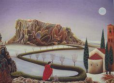 San Anselmo va sulla Pietra di Bismantova a sfidare il Diavolo.