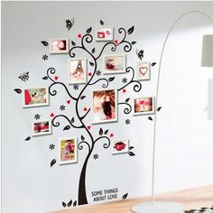 Free Shipping Large Size Family Photo Frame Tree Wall Sticker Stickers Home Decor Living Room Bedroom Decals US $5.90