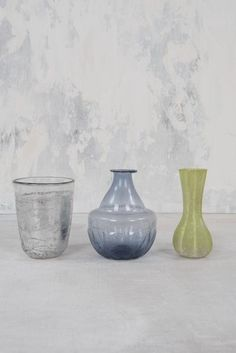 Set of Three Glass Vases