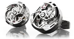 These Rotor cufflinks showcase a watch movement where each component - screws, bars, wheels - have been perfected in minute detail. The oscillating rotor creates an aesthetic that is truly mesmerizing. Men's Jewelry Rings, Luxury Packaging, Cool Gear, Popular Mens Fashion, Well Dressed Men, Men Necklace, Best Brand, Bracelets For Men, Red Gold