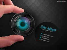 Circular Photographer Business Card by axylus on DeviantArt
