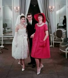 1958 Victoire with Yves Saint Laurent and Christine Tidmarsh presenting his first collection (Trapeze) for Maison Dior