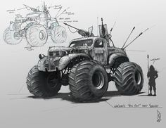 "Mad Max - Fury Road - ""Big Foot"", Shane Molina on ArtStation at https://www.artstation.com/artwork/mad-max-fury-road-big-foot"