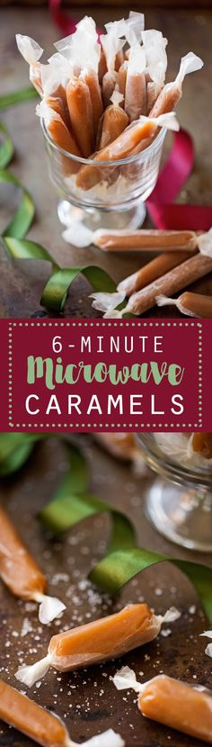 6 minute microwave caramels are my new favorite thing! ohsweetbasil.com