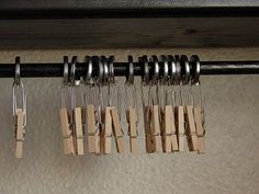 Homemade Clips for Clip It Up. Best instructions I found on the web - - This organization tool can be used for so many things in the home - I even use it for hanging ties, scarves etc.