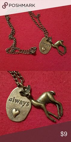 """Harry Potter """"Always"""" and Doe Charm Necklace Harry Potter """"Always"""" and Doe Charm Necklace Bioworld Jewelry Necklaces"""