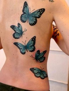 #Teal #Butterflies #Tattoo For more great pins go to @KaseyBelleFox