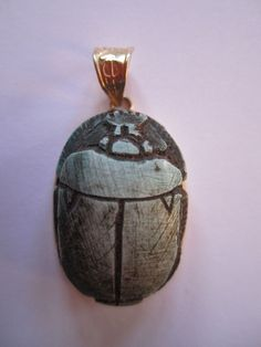 18 k gold Egyptian Scarab HAND MADE IN EGYPT ONE OF A KIND good luck amulet | eBay