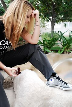 Grey/Gray #Converse #Chucks Chuck Taylor high-tops; #tennis shoes; #trainers (Converse by Night Dimness, via Flickr)