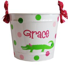 Kids personalized gator bucket
