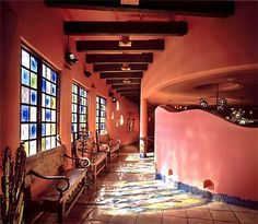 photo of mexican entryway Mexican Restaurant Design, Mexican Interior Design, Restaurant Interior Design, Commercial Interior Design, Commercial Interiors, Mexican Restaurants, Restaurant Interiors, Restaurant Ideas, Houses