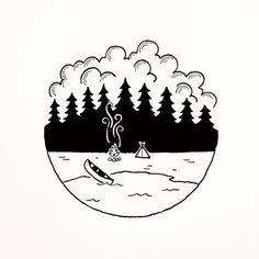 An illustration I did of the BWCA a while back