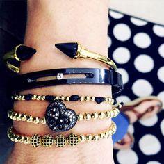 351689deff99 Set By Vila Veloni Black And Elegant Bracelets Manillas