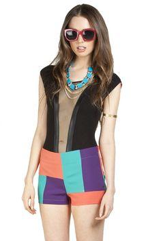 Color Block Shorts - New Apparel - via @kennymilano #idemtikosay is very interesting fusion...