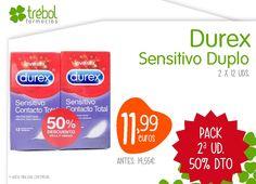 #Preservativos #Durex Sensitivo, pack duplo con un 50% de descuento en la 2ª ud., encuéntralos ahora en #FarmaciaArias.