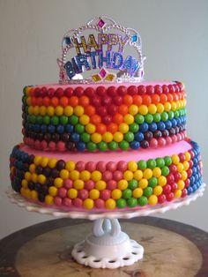Skittles Candy Cake