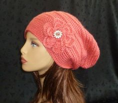 Crochet Slouch Beanie Slouchy Hat Winter Fashion by berly731