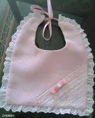 Resultado de imagen para baberos para bebes recien nacidos