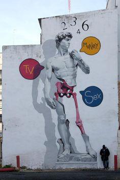 Man O Matic in Huelva, Spain LOVE STREET ART? CHECK  https://www.etsy.com/shop/urbanNYCdesigns?ref=hdr_shop_menu