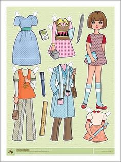 Fashion Paper Doll #paper doll