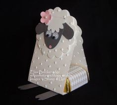 Punch art Easter Lamb candy holder: