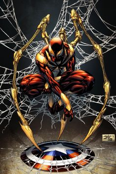 Iron Spider-Man... Civil War is upon us all!!