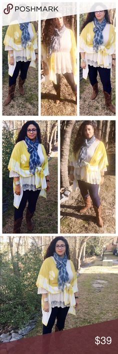 Spotted while shopping on Poshmark: 🆕Mustard Yellow / Honey Colored Kimono! #poshmark #fashion #shopping #style #Evolve Always #Tops