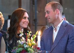 The look of love: The couple, who have been married for six years, could be seen gazing into each other's eyes during tonight's reception in Berlin. Tomorrow they will travel to Hamburg before heading back to the UK